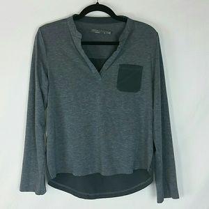 Prana Ashlyn grey long sleeve shirt sz M